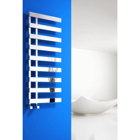Reina Florina Steel Modern Vertical Bathroom Towel Rail and Radiator - Chrome