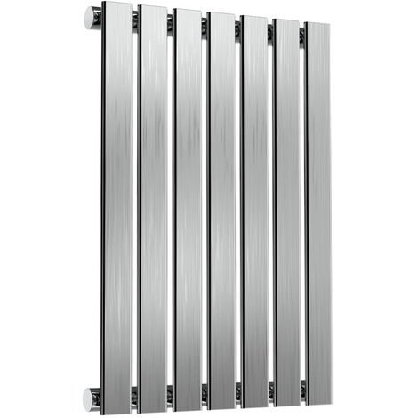 Reina Flox Single Horizontal Radiator 600mm H x 413mm W Brushed