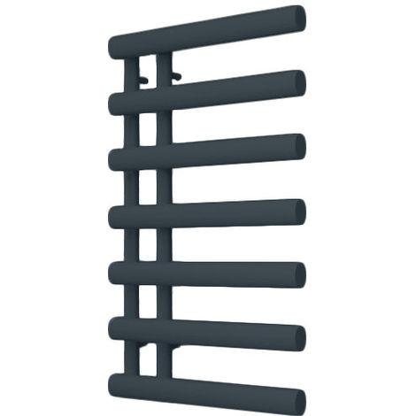 Reina Grace Reversible Anthracite Straight Designer Heated Towel Rail 780mm x 500mm Dual Fuel - Non-Thermostatic