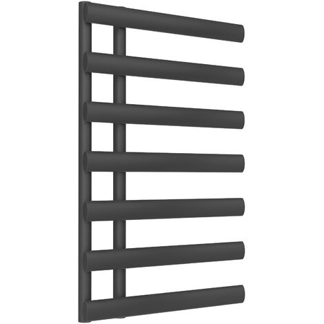 Reina Grace Steel Anthracite Designer Towel Radiator 780mm x 500mm - Central Heating