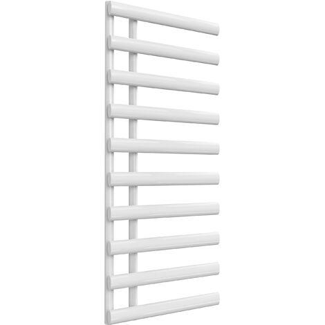Reina Grace Steel White Designer Towel Radiator 1140mm x 500mm - Central Heating