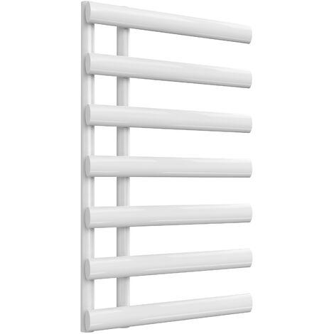 Reina Grace Steel White Designer Towel Radiator 780mm x 500mm - Central Heating