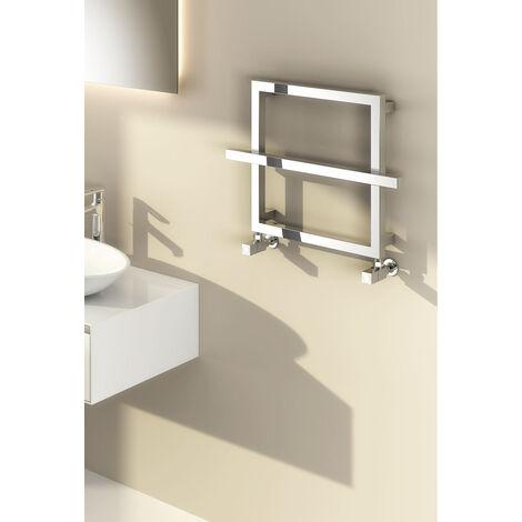 Reina Lago 1 Steel Contemporary Square Bathroom Towel Rail and Radiator - Chrome