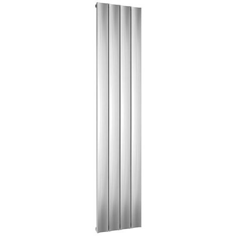 Reina Luca Single Vertical Aluminium Radiator 1800mm H x 280mm W Polished