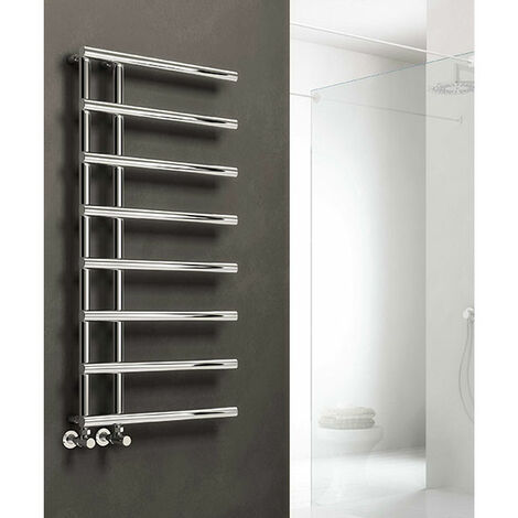 Reina Matera Heated Towel Rail 722mm H x 500mm W Chrome