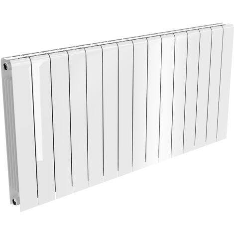 Reina Miray Aluminium White Horizontal Designer Radiator 580mm x 1200mm