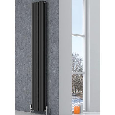 Reina Neva Anthracite Vertical Designer Radiators 1800mm x 472mm Single Panel