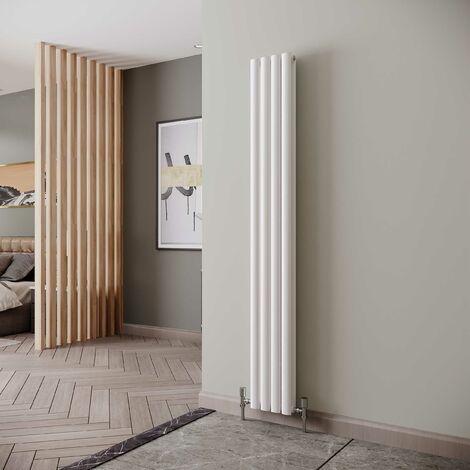 Reina Neva Designer Radiator 1800mm H x 236mm W Double, White