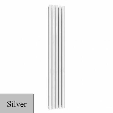Reina Neva Designer Radiator 1800mm H x 295mm W Double - Silver