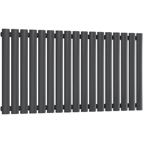 Reina Neva Steel Anthracite Horizontal Designer Radiator 550mm x 1003mm Single Panel Central Heating