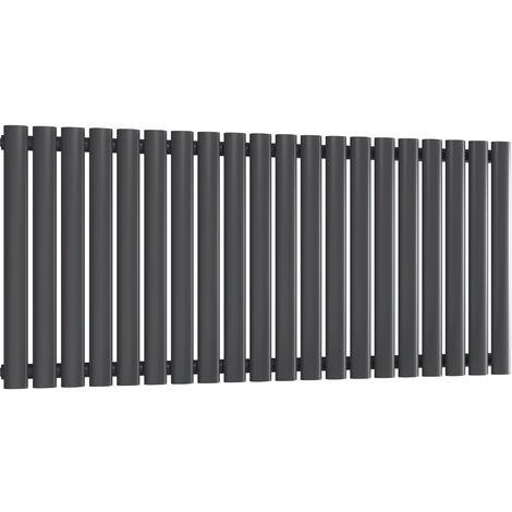 Reina Neva Steel Anthracite Horizontal Designer Radiator 550mm x 1180mm Single Panel Central Heating