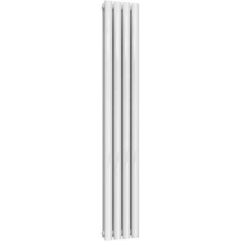 Reina Neva Steel White Vertical Designer Radiator 1500mm x 236mm Double Panel