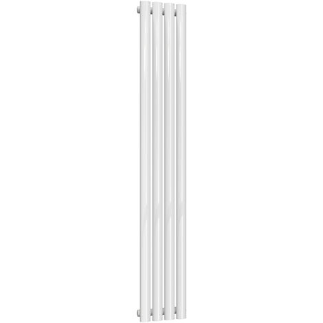 Reina Neva Steel White Vertical Designer Radiator 1500mm x 236mm Single Panel