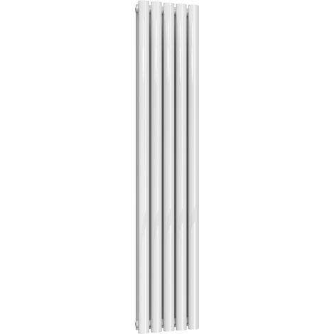 Reina Neva Steel White Vertical Designer Radiator 1500mm x 295mm Double Panel