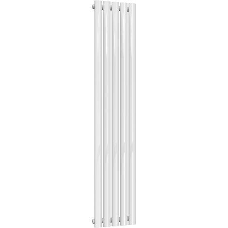 Reina Neva Steel White Vertical Designer Radiator 1500mm x 295mm Single Panel