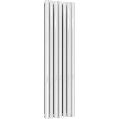 Reina Neva Steel White Vertical Designer Radiator 1500mm x 413mm Double Panel