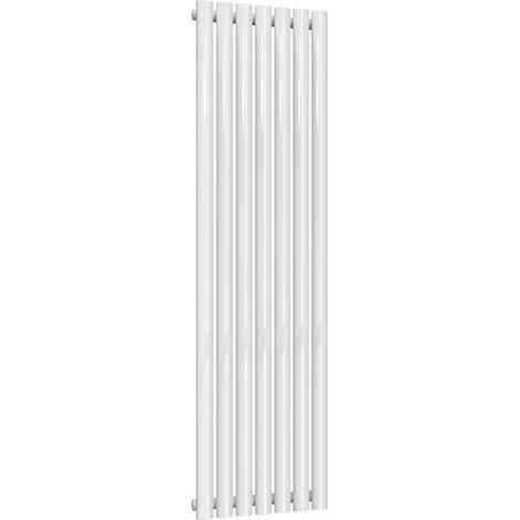 Reina Neva Steel White Vertical Designer Radiator 1500mm x 413mm Single Panel