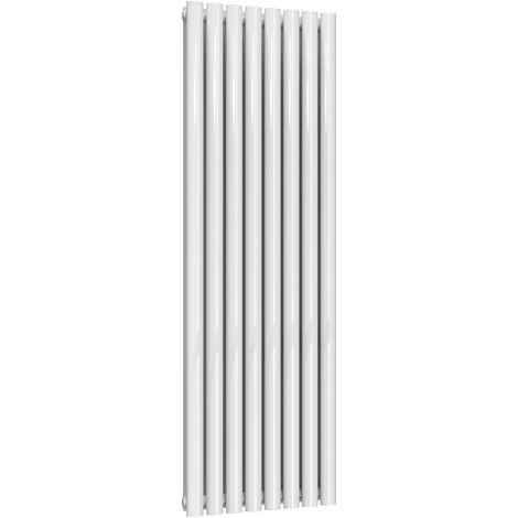 Reina Neva Steel White Vertical Designer Radiator 1500mm x 472mm Double Panel