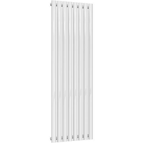 Reina Neva Steel White Vertical Designer Radiator 1500mm x 472mm Single Panel