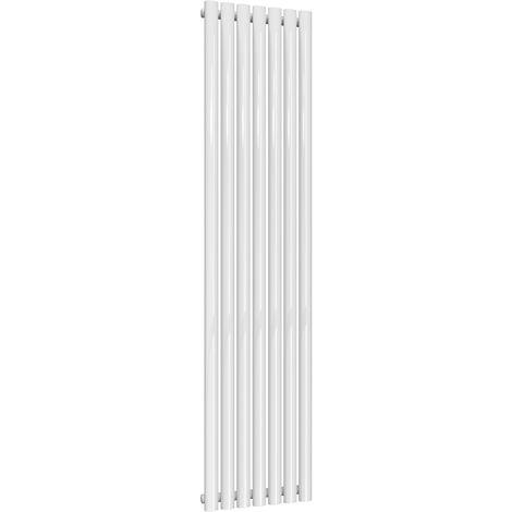 Reina Neva Steel White Vertical Designer Radiator 1800mm x 413mm Single Panel
