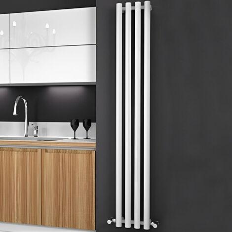 Reina Oria Designer Vertical Radiator 1800mm H x 270mm W White