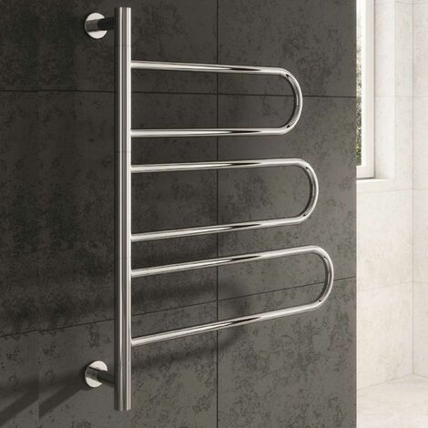 Reina Orne Electric Designer Heated Towel Rail 750mm H x 550mm W Polished