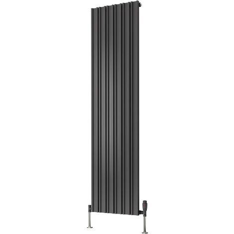Reina Raile Anthracite Vertical Designer Radiator 1800 x 400mm