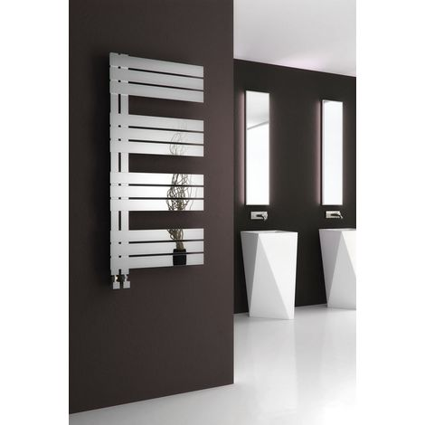 Reina Ricadi Polished Stainless Steel Designer Heated Towel Rail 1440mm x 500mm Central Heating