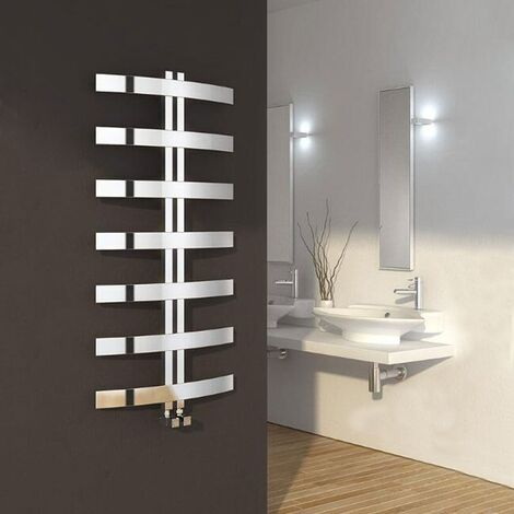 Reina Riesi Designer Heated Towel Rail 1200mm H x 600mm W Polished