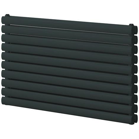 Reina Roda Anthracite Horizontal Designer Radiators 590mm x 1000mm Double Panel Central Heating