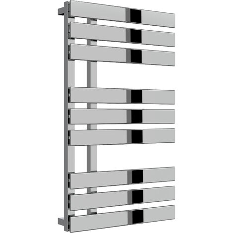 Reina Sesia Steel Chrome Designer Heated Towel Rail 860mm x 500mm Central Heating