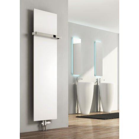 Reina Slimline Vertical Radiator Towel Bar - Chrome
