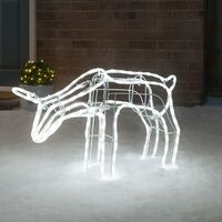 Reindeer Rope Light 3D Silhouette LED Christmas Decoration 70cm Christow
