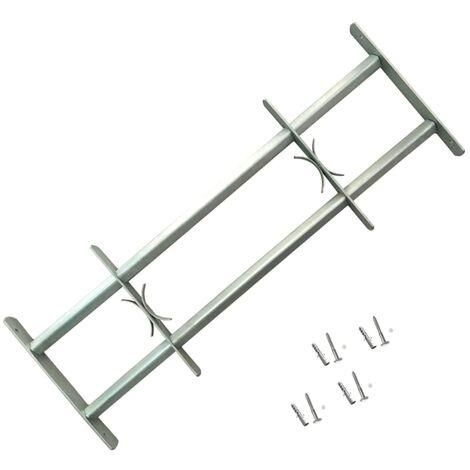 Reja de seguridad ajustable ventana con 2 barras 700-1050 mm