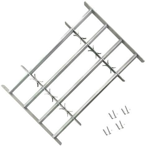Reja de seguridad ajustable ventana con 4 barras 1000-1500 mm