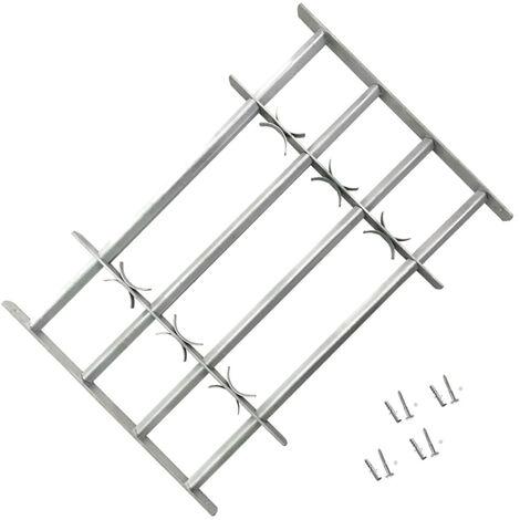 Reja de seguridad ajustable ventana con 4 barras 700-1050 mm