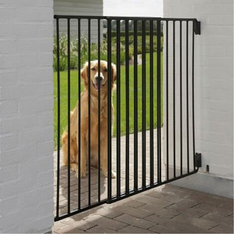 Reja reglable Dog barriere porte exterieure animal 95 cm | chatiere exterieur | Pet cloture exterieure