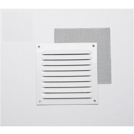 Rejilla Con Mosquitera Aluminio 0.6 Blanco Lacado 10X10 (G) - NEOFERR