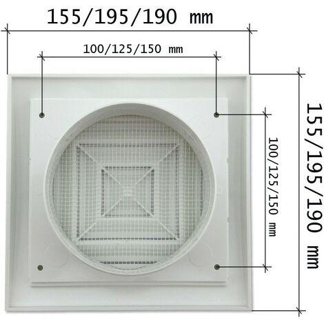 Rejilla de plástico blanca serie ERC -Disponible en varias versiones