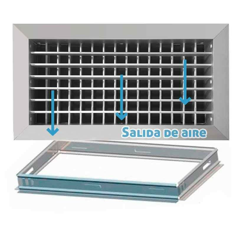 entrada y salida del aire Rejilla de ventilaci/ón met/álica con mosquitera