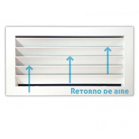 Rejilla de ventilación retorno blanco -Disponible en varias versiones