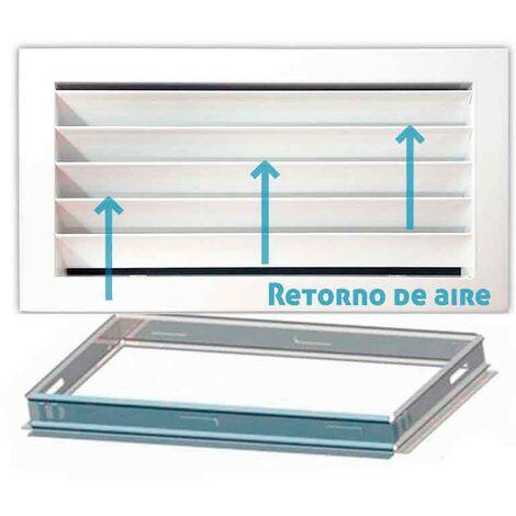Rejilla de ventilación retorno blanco + Marco de montaje -Disponible en varias versiones