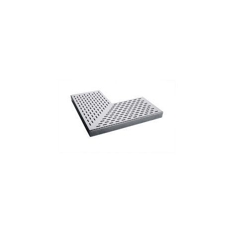 Rejilla Inox. Longitudinal y Esquina 90º 195mm Astralpool para Rebosadero Cod:32729
