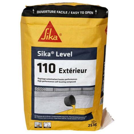 Rejilla para suelo de alto rendimiento SIKA Level-110 Interior y exterior - Autonivelante - 25 Kg - Gris