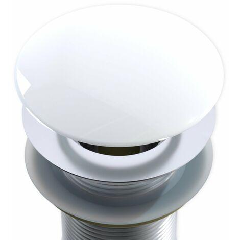 Rejilla - tapadera - tapa para sumidero Pop Up en blanco brillante