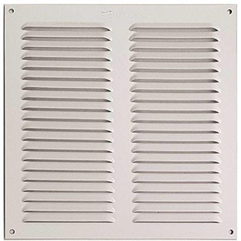 Rejilla Ventana Aluminio Sin Pestaña 30X15 Blanca