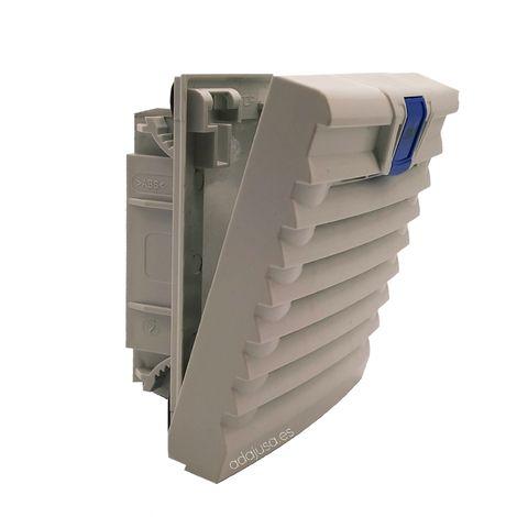 Rejilla ventilación con filtro 120x120mm