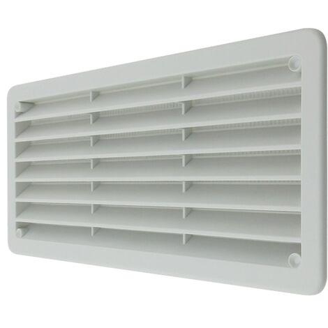 Rejilla ventilación de plástico 270x120 mm con malla anti insectos