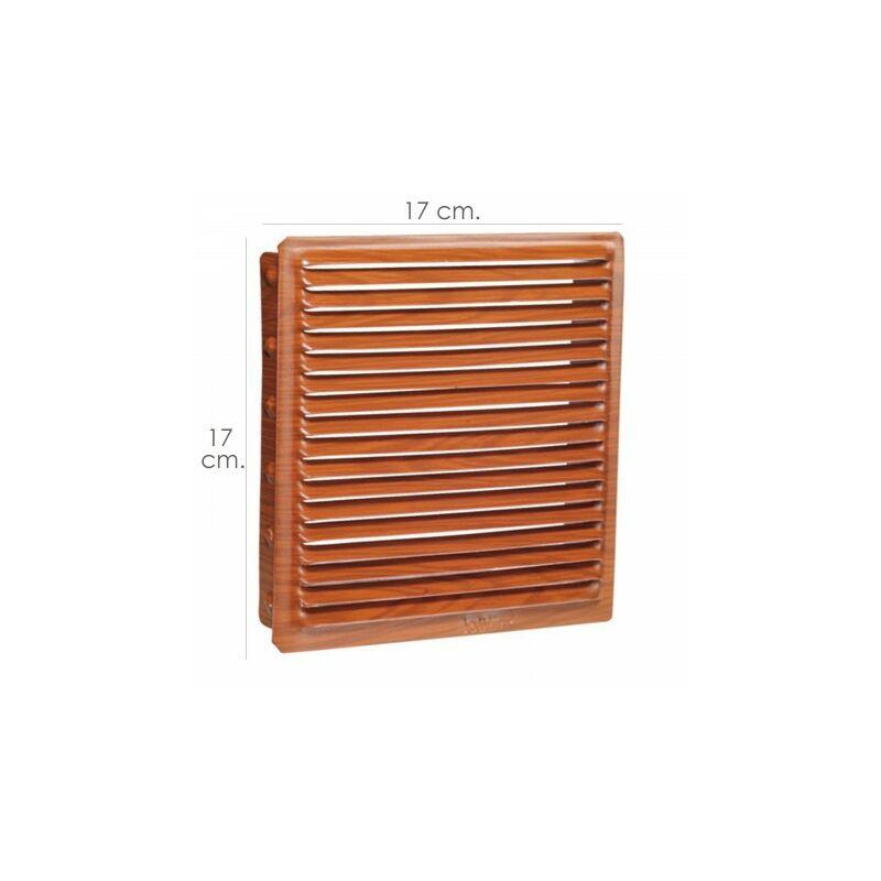 Cubierta de Rejilla de Ventilaci/ón de Aire de Pl/ástico 3 Aletas Rejilla de Ventilaci/ón de Conducto de Pared con Red 20 * 20 cm Samfox Rejilla de Ventilaci/ón de Aire