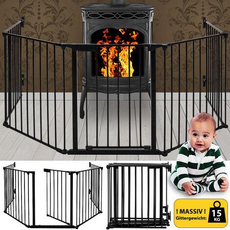 Rejillas de protección para chimeneas Barrera de seguridad de 5 piezas Barrera de seguridad para niños Barrera de seguridad para chimeneas y escaleras